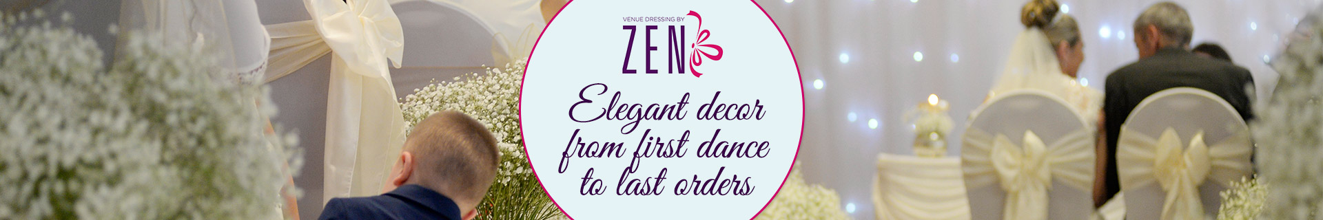 Elegant decor, from first dance to last orders!