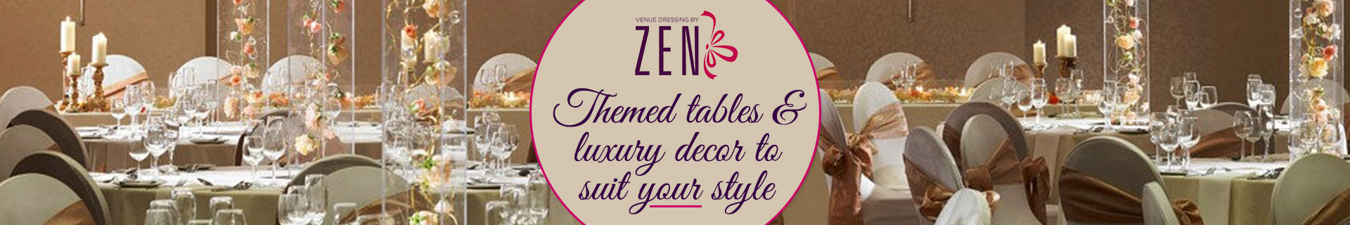 Themed tables & luxury decor to suit your personal style!